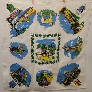 Vintage Ireland Souvenir Tablecloth